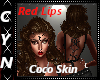 Coco Skin Red Lips