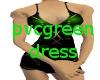 pvc green dress