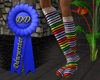 layered rainbow socks