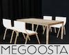 Wht Plastic & Wood Chair