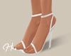 H. Strap Heels White