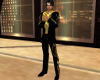 Mens Black Gold Suit