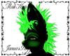 Green Rave Wolf Hair