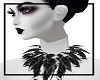 Gothic feathers neck add