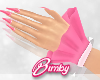 Bunny Cuffs + Nails Pink