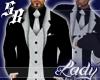 Black Silver Suit