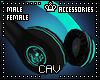Teal Headphones M/F
