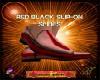 DM:RED BLACK SLIP-ONS