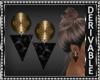 HD Gold/Black Earrings