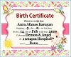 Aura Birth Cert.