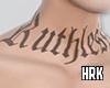 hrk. neck tattoo