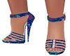 Purple floral heels shoe