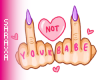 Not Your Babe Cutout