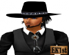 Black Cowboy Hat /Hair