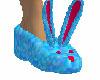 Bunny Fuzz Slippers Blue