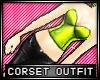* Shiny corset - limeish