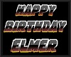 ELMER bday floor sign