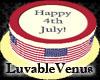 [LV] Cake Happy 4th July