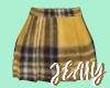 J  Yellow Plaid Skirt