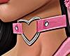 Heart Choker Pink