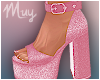 ! Sparkly Pink Heels