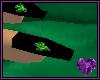 4 Leaf Clover Black Nail
