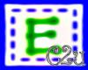 C2u letter E Sticker