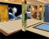 rose flower room w/ pool