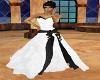 *D*B/W silk Wedding gown