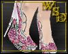 Empress Pink Wedge Heels