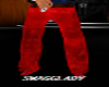 Mens faded red baggy