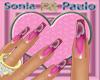 unhas pink lila love ps