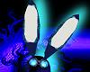 Blue Circuit Bunny Ears