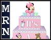 Min Mouse Shower Cake
