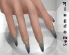 Sharp nails, mix gray C