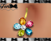 Jewel Flower Belly Ring
