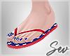 *S July 4th Flip Flops