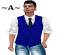 Blue vest and shirt