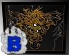 3D Picture Golden Dragon