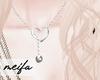🌸 Heart Necklace Whte