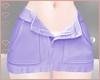 T! Denim Skirt - Purple