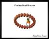 Peaches Bead Bracelet