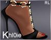 K gold black heels