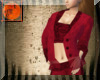 Western red suede suit