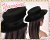 [Y] Black Boater Hat