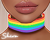 $ Rainbow Choker Light