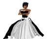 WTII BLACK N WHITE GOWN