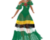DOMINICA FLAG GOWN