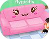 Kawaii Face Sofa Pink