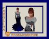 (CR) Blue-Slvr Fur Gown